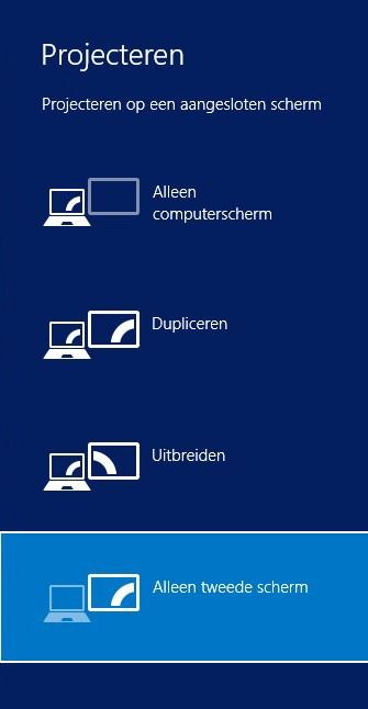 scherm doet het niet