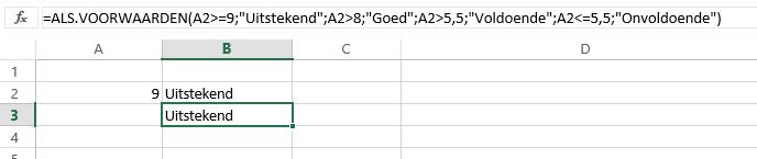 Excel 2016 - ALS.VOORWAARDEN
